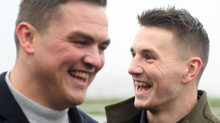 Gareth Maule (left) and Jonathan Davies are all smiles after their big win