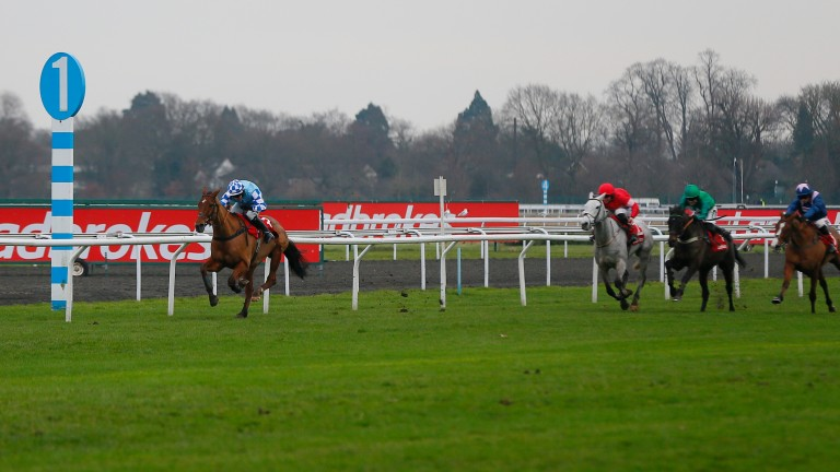 Bun Doran and Jonathan Burke clear away from their rivals on the run-in