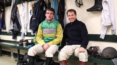 Brian Hughes (left) and Richard Johnson are neck-and-neck in the race to be crowned champion jumps jockey
