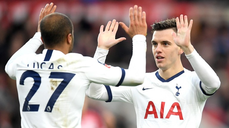 Tottenham Hotspur's Lucas Moura and Giovani Lo Celso