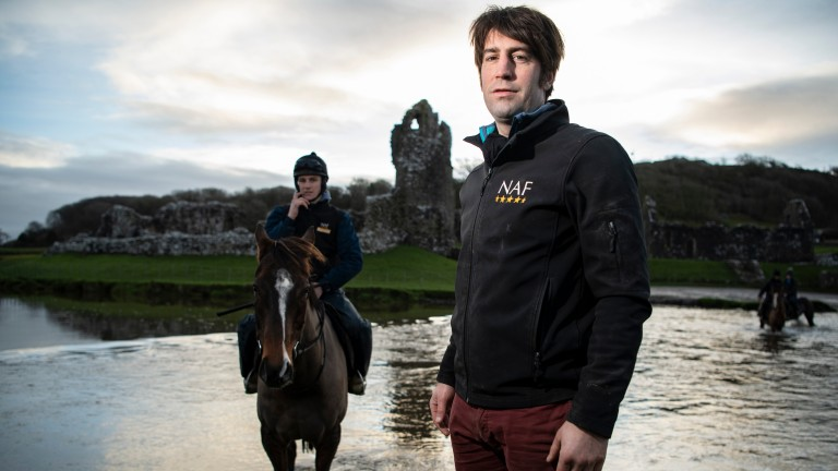 Christian Williams, seen here with Potters Corner and Jack Tudor, will head straight to the Cheltenham Festival with his Welsh Grand National hero