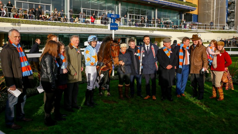 Un De Sceaux with winning connections after his first Clarence House Chase victory in 2016