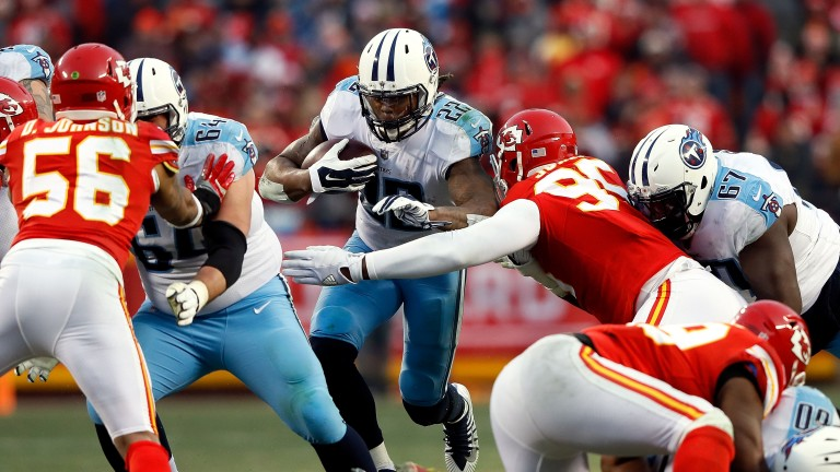 Tennessee running back Derrick Henry has had over 100 rushing yards in seven of his last eight games