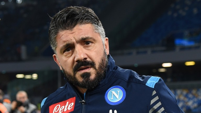 SSC Napoli coach Gennaro Gattuso