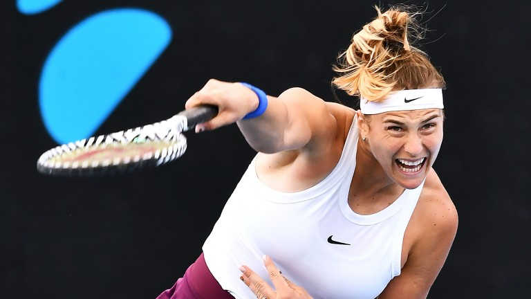 Aryna Sabalenka is one of the WTA Tour's most powerful hitters and could join the ranks of major winners in the next fortnight