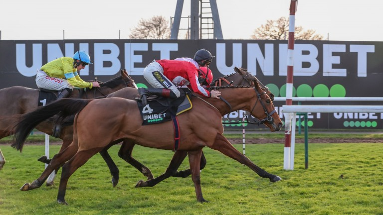 Ballyandy (nearside) : will find the ground less testing than when he won at Haydock last winter