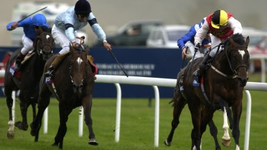 Bollin Eric (right) wins the St Leger in 2002 Picture: Edward Whitaker