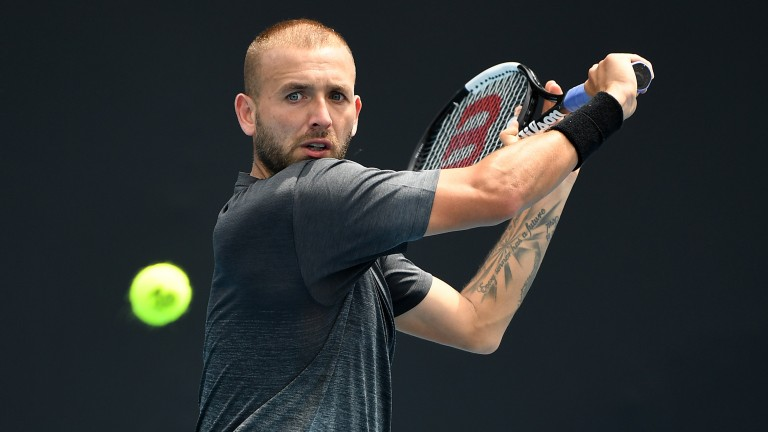 Dan Evans came from two sets down to pip Mackenzie McDonald in his opener but the Briton could perform better in round two
