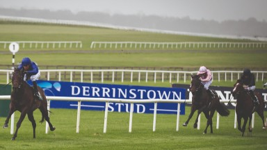 Pinatubo and William Buick annihilate a strong field in the Goffs Vincent O'Brien National Stakes  at the Curragh to earn a two-year-old rating last  achieved 25 years ago