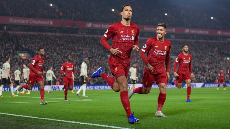 Virgil van Dijk's Liverpool are closing in on the Premier League title