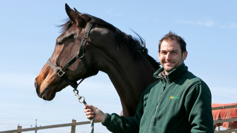 Phil Kirby with his stable star Lady Buttons