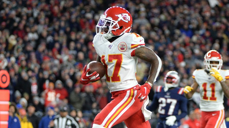 Kansas City wide receiver Mecole Hardman could play a role in Super Bowl 54
