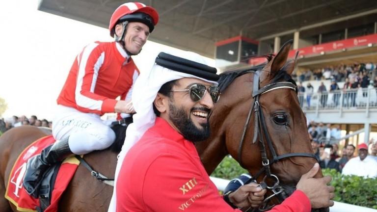 Adrie De Vries won the His Royal Highness Prince Salman bin Hamad Al Khalifa Cup on Port Lions