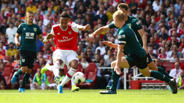 Pierre-Emerick Aubameyang has scored 20 Premier League goals for Arsenal this season