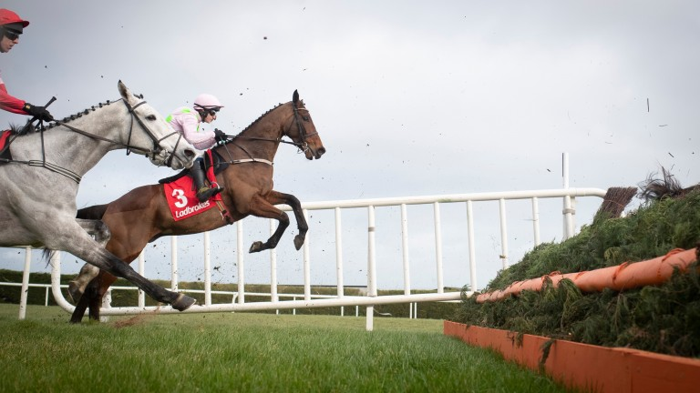 Chacun Pour Soi in action at Leopardstown last season. He returns to the track for the Paddy's Rewards Club Chase on December 27