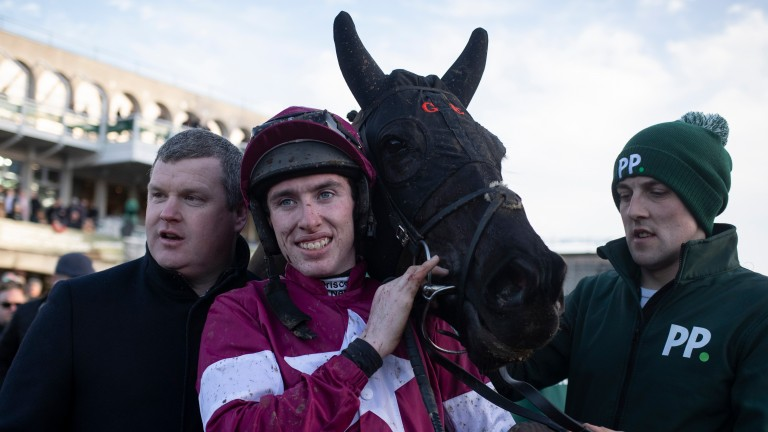 Jack Kennedy (centre): missed out on riding Delta Work in the Savills Chase