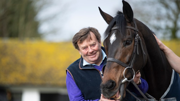 Nicky Henderson and Altior at Seven Barrows this week