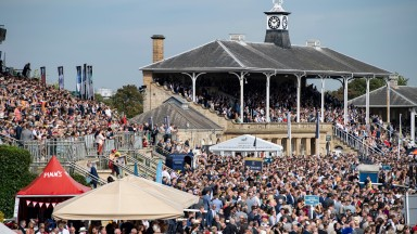A 30,000 + crowd turn up for St Leger dayDoncaster 14.9.19 Pic: Edward Whitaker