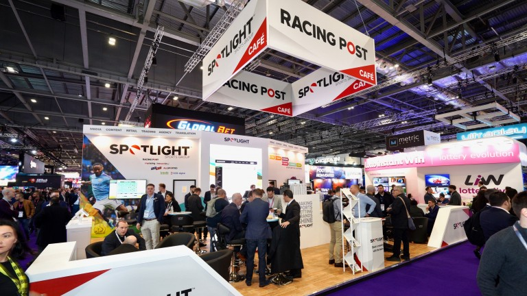 The Racing Post stand at this year's ICE London