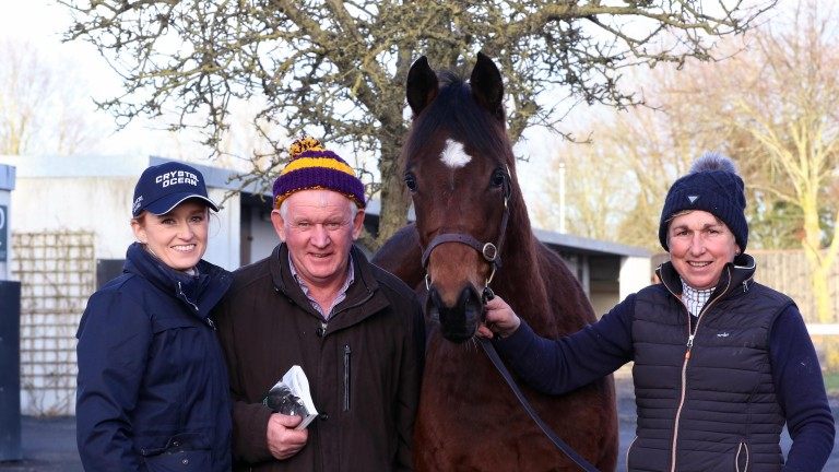 Jane, Jimmy and Mary Mangan of Riverview Farm all smiles the session-topping Churchill colt