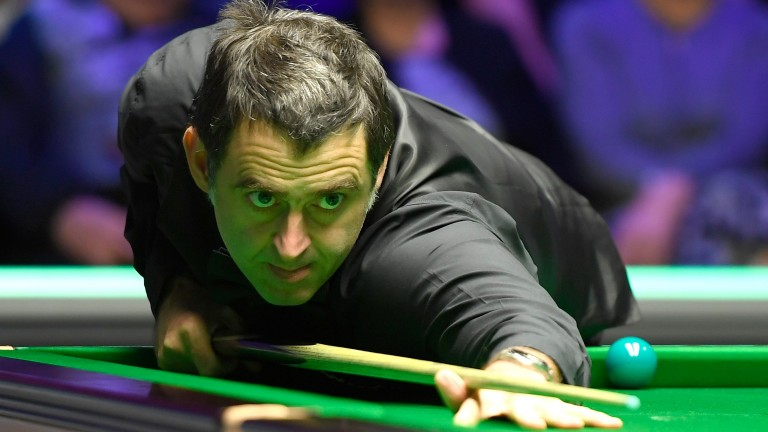 Ronnie O'Sullivan is looking a lot sharper in Cardiff this week than in Cheltenham last week