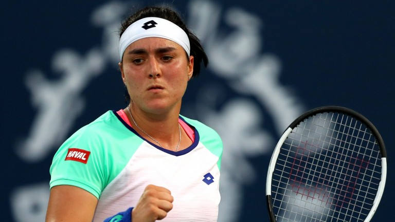 Ons Jabeur defeated Alison Riske in her opening match in Dubai