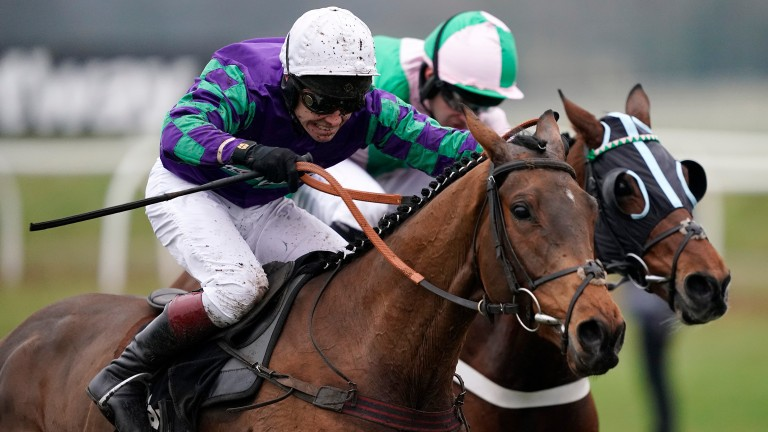 Richard Johnson (left) faces a big weekend in his bid to close on Brian Hughes in the jockeys' title race