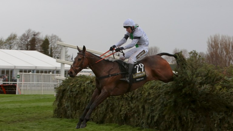 Pineau De Re and Leighton Aspell clear the last in the 2014 Grand National at Aintree
