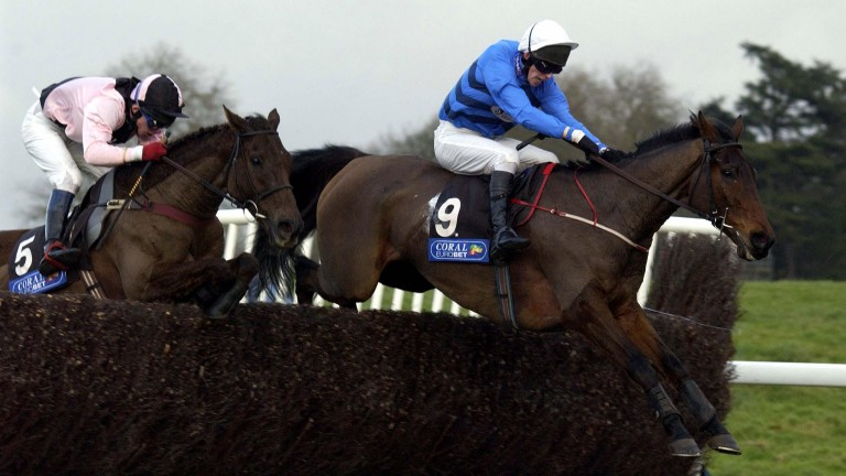 Leighton Aspell and Supreme Glory lead Jocks Cross on their way to victory in the 2001 Welsh Grand National at Chepstow