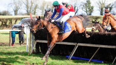Blue Sans and James Hannon strike in the five and six-year-old mares' maiden at Kildorrery