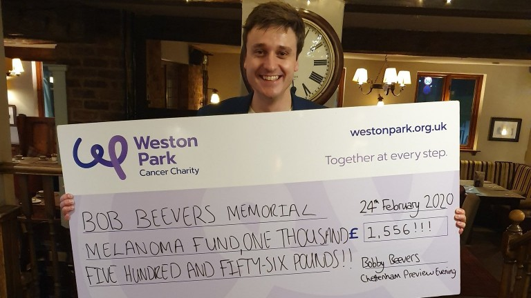 Bobby Beevers: raised £1,556 for the Bob Beevers Memorial Melanoma Fund