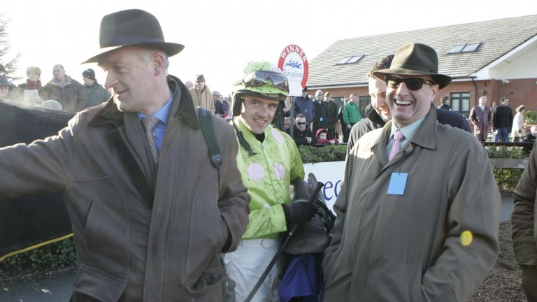 Willie Mullins, Ruby Walsh and Rich Ricci after the victory of Scotsirish