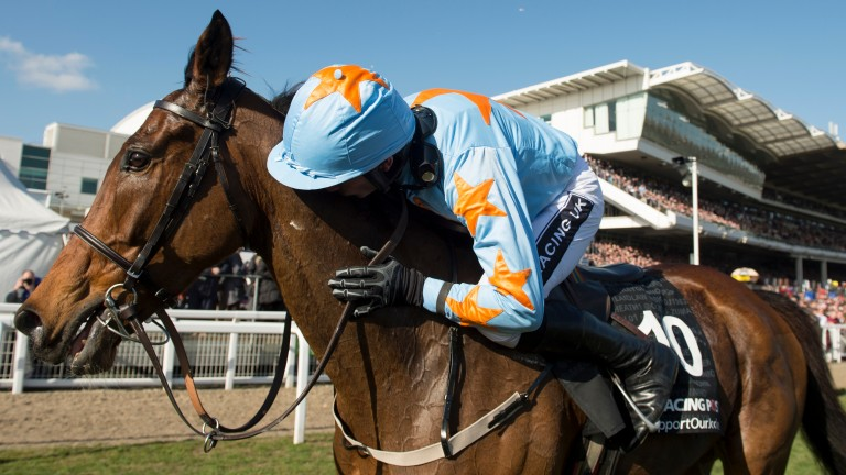 Un De Sceaux: with Ruby Walsh after landing the 2015 Racing Post Arkle