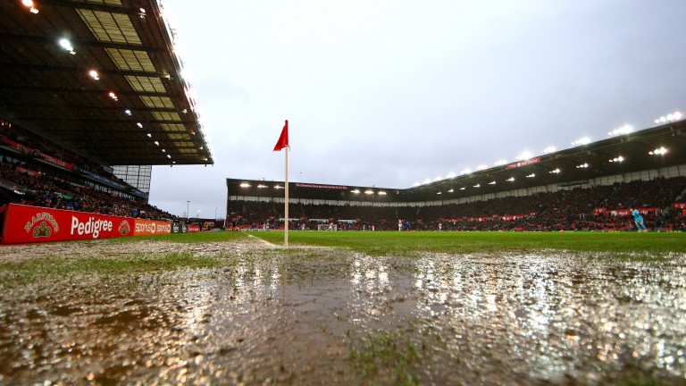 Waterlogged pitches could be a problem across the country today