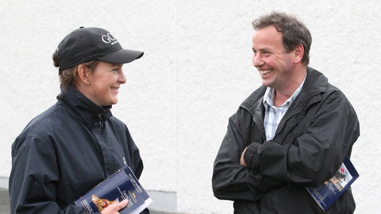 Kevin Ross with wife Anna in action at Tattersalls Ireland