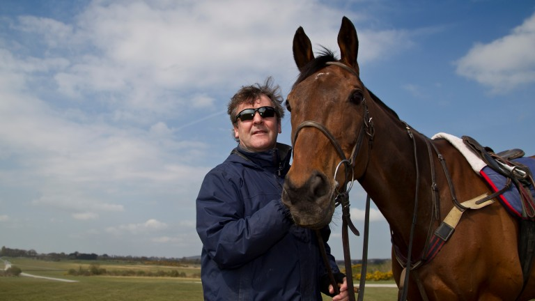 Enda Bolger won back-to-back renewals of the St James's Place Foxhunter Chase with legendary hunter chaser On The Fringe in 2015 and 2016