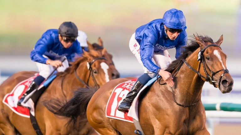 Barney Roy: led home a 1-2-3 for Charlie Appleby and Godolphin