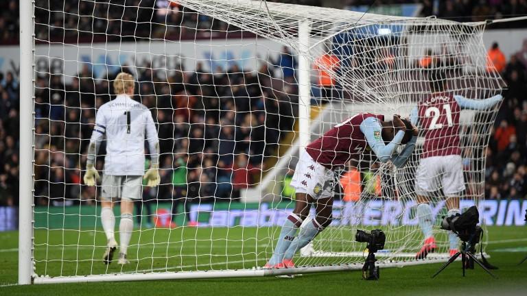 Aston Villa's Mbwana Samatta has ended up in the net more often than the ball