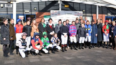 Female jockeys from both codes at the unique mixed meeting at Southwell