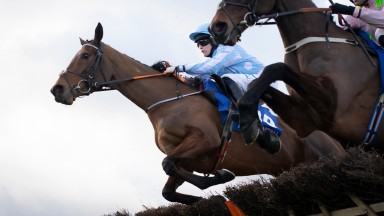 Honeysuckle and Rachael Blackmore take the PCI Champion Hurdle (Grade 1).Leopardstown.Photo: Patrick McCann/Racing Post 01.02.2020