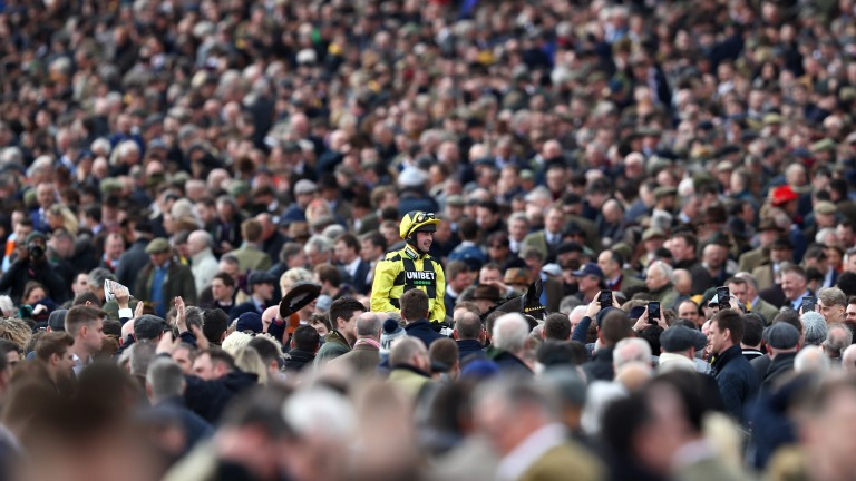 A crowd of 60,664 watched the action on Tuesday