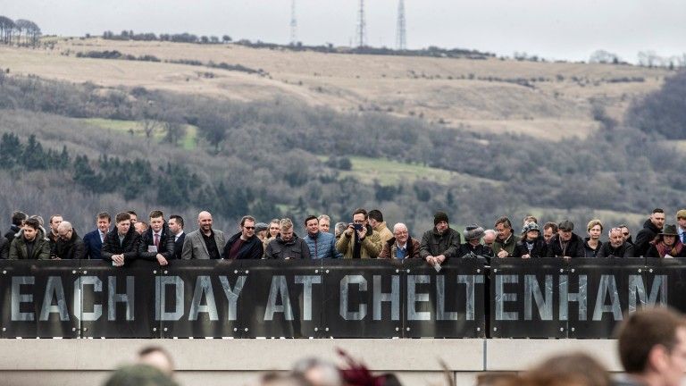 Packed to the rafters on the first day of the Cheltenham Festival on Tuesday