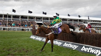 Champ clears the last in the RSA Insurance Novices' Chase