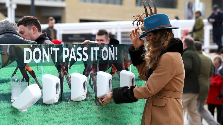 Coronavirus measures have been in place at the Cheltenham Festival this week