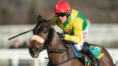 Magic Of Light and Robbie Power on their way to winning the Grade 2 Matchbook Betting Podcast Mares' Hurdle at Ascot in 2019