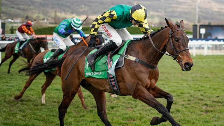 Lisnagar Oscar powers to the line to win the Stayers' Hurdle
