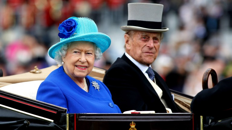 Prince Philip and the Queen in the carriage procession at Royal Ascot in 2016