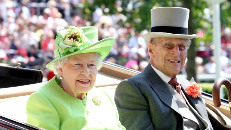 The Queen and Prince Philip at the head of the royal procession at Royal Ascot