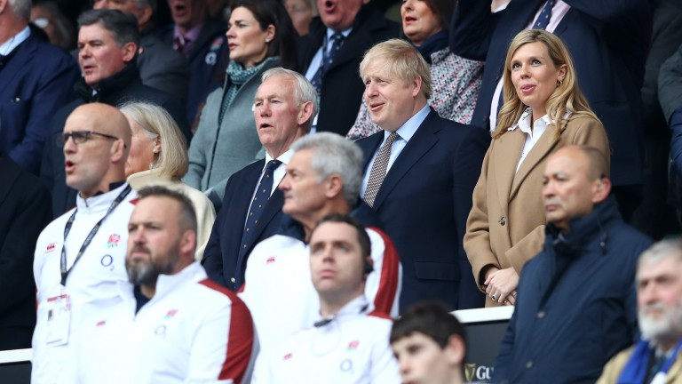 Boris Johnson (pictured at Twickenham last Saturday) listened to the experts rather than celebrity opinion