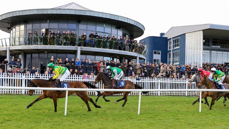 Zero Ten (second): chased home the high-class Cash Back (left) two starts ago at Naas